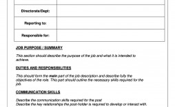 005 Stupendou Blank Job Description Template Picture  Uk Free Printable Word