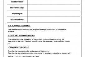 005 Stupendou Blank Job Description Template Picture  Ks2 Word Free Printable