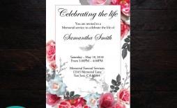 005 Stupendou Celebration Of Life Announcement Template Free Image  Invitation Download Invite