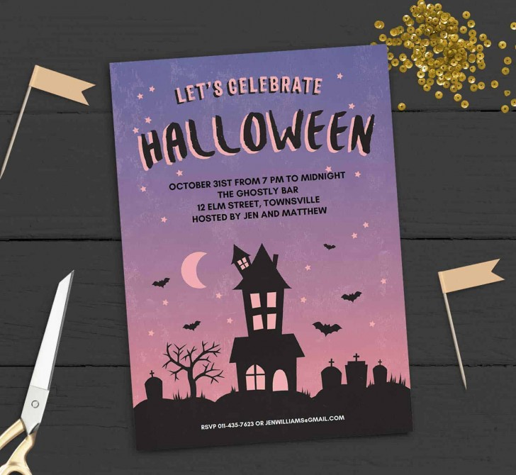 005 Stupendou Free Halloween Party Invitation Template Photo  Printable Birthday For Word Download728