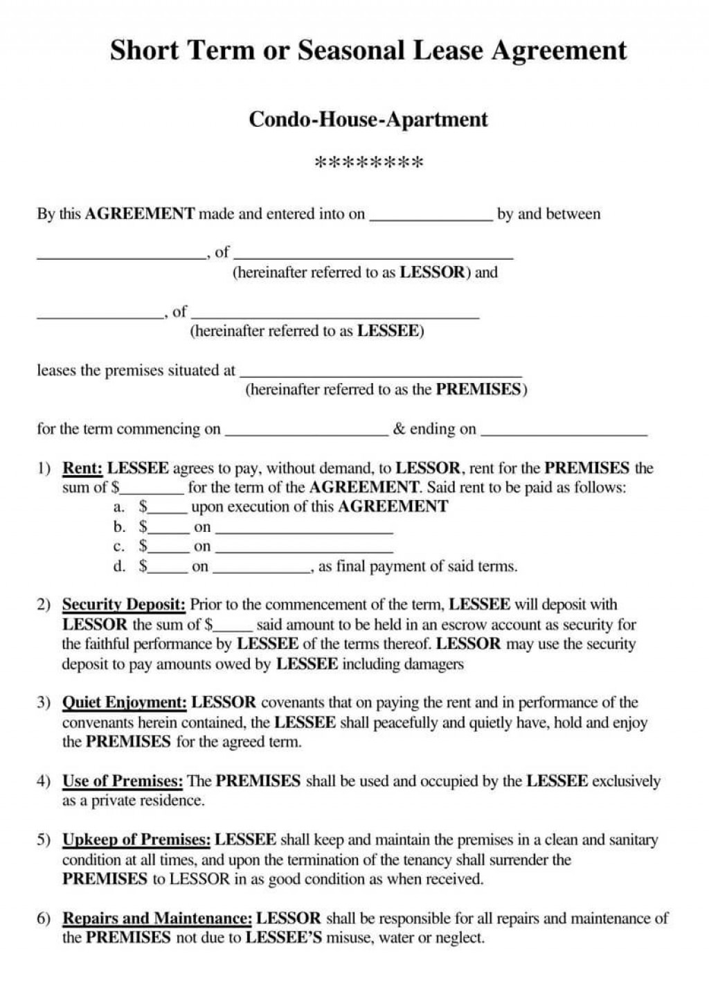 005 Stupendou House Rental Agreement Template Image  Home Free Ireland FormLarge