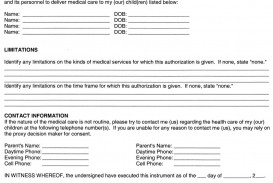 005 Stupendou Medical Treatment Authorization And Consent Form Template High Def