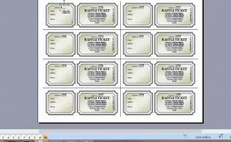 005 Stupendou Microsoft Word Ticket Template High Definition  Raffle 8 Per Page Movie Numbered