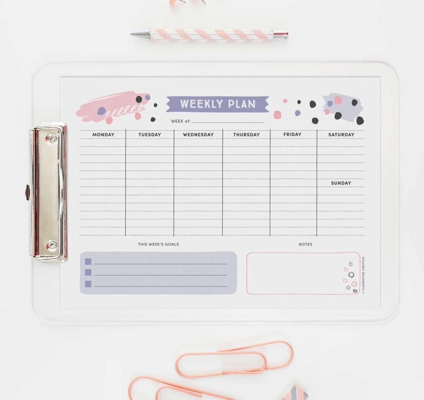 005 Stupendou Printable Weekly Planner Template Cute High Def  Free Calendar1400