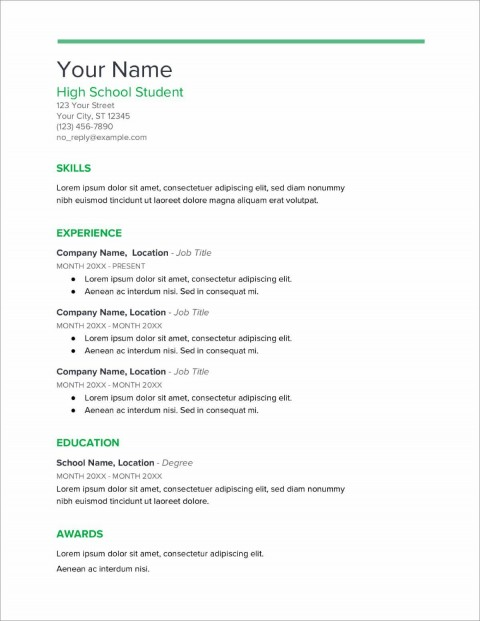005 Stupendou Resume Template High School Picture  Student Australia For Google Doc Graduate Microsoft Word480