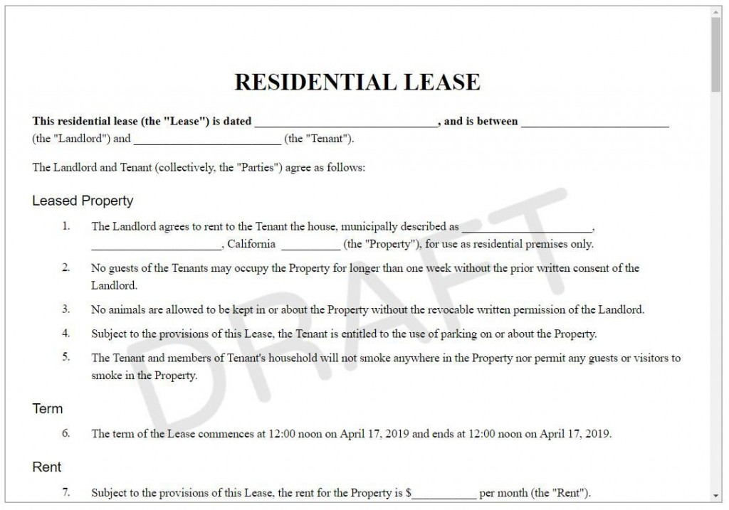 005 Stupendou Sample House Rental Agreement Template Highest Quality  Contract LeaseLarge
