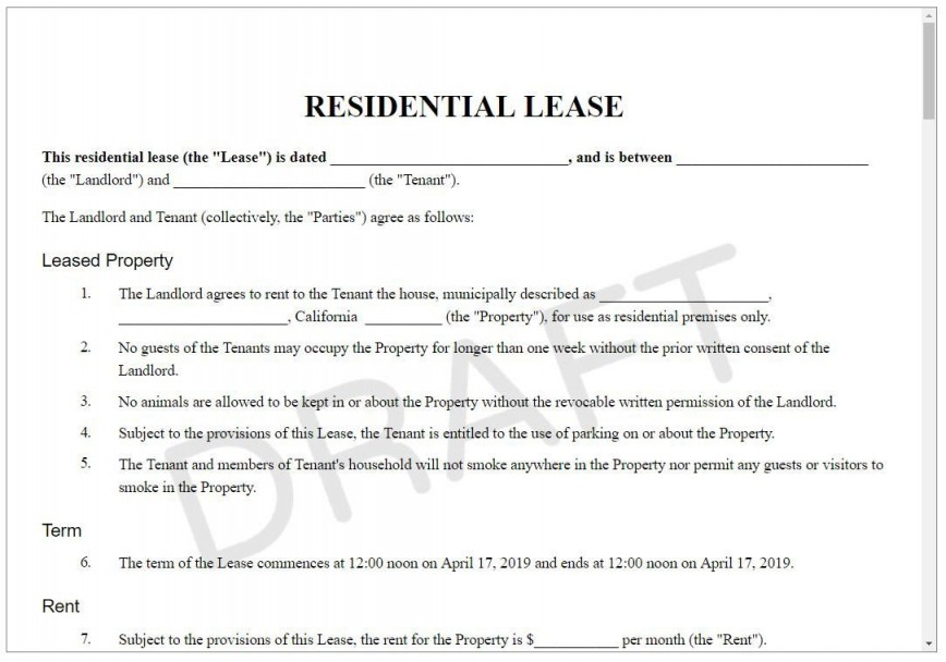 005 Stupendou Sample House Rental Agreement Template Highest Quality  Home Lease