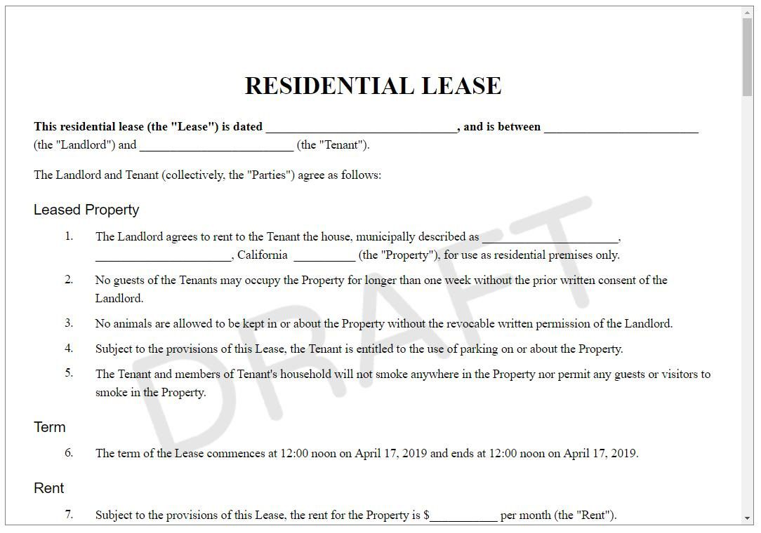 005 Stupendou Sample House Rental Agreement Template Highest Quality  Contract LeaseFull