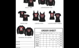 005 Stupendou Shirt Order Form Template Highest Quality  Tee T Microsoft Word