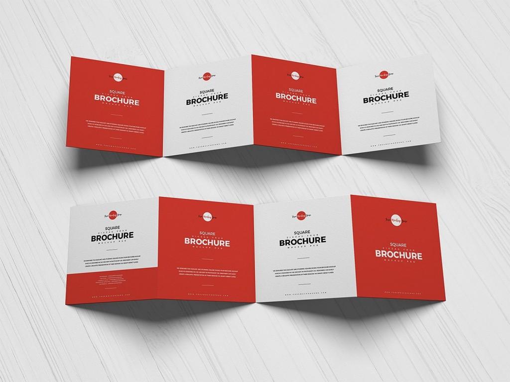 005 Stupendou Square Brochure Template Psd Free Download Idea Large