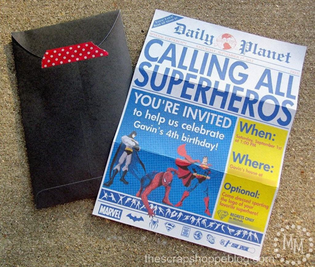 005 Stupendou Superhero Newspaper Invitation Template Free High Def Large