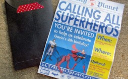 005 Stupendou Superhero Newspaper Invitation Template Free High Def