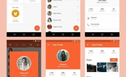 005 Surprising Android App Design Template High Def  Psd Free Download Chat For Ui