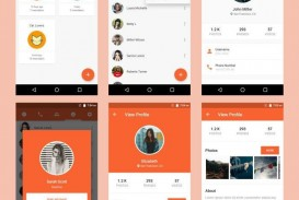 005 Surprising Android App Design Template High Def  Free Sketch Ui