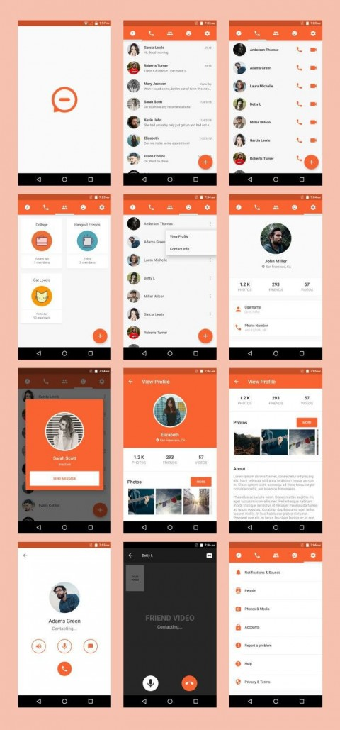 005 Surprising Android App Design Template High Def  Free Sketch Ui480