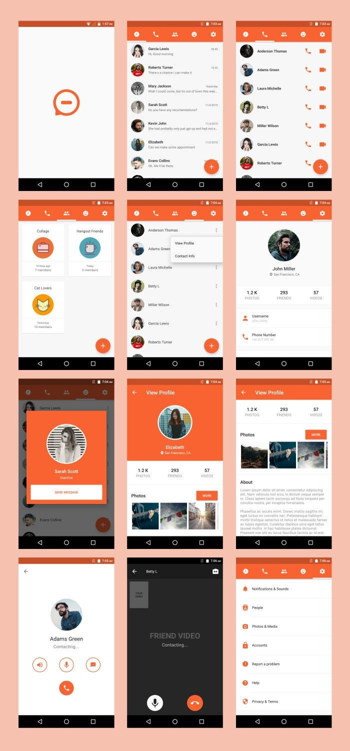 005 Surprising Android App Design Template High Def  Free Sketch UiFull