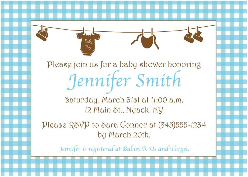 005 Surprising Baby Shower Invitation Wording Example Highest Quality  Examples Invite Coed Idea For BoyLarge