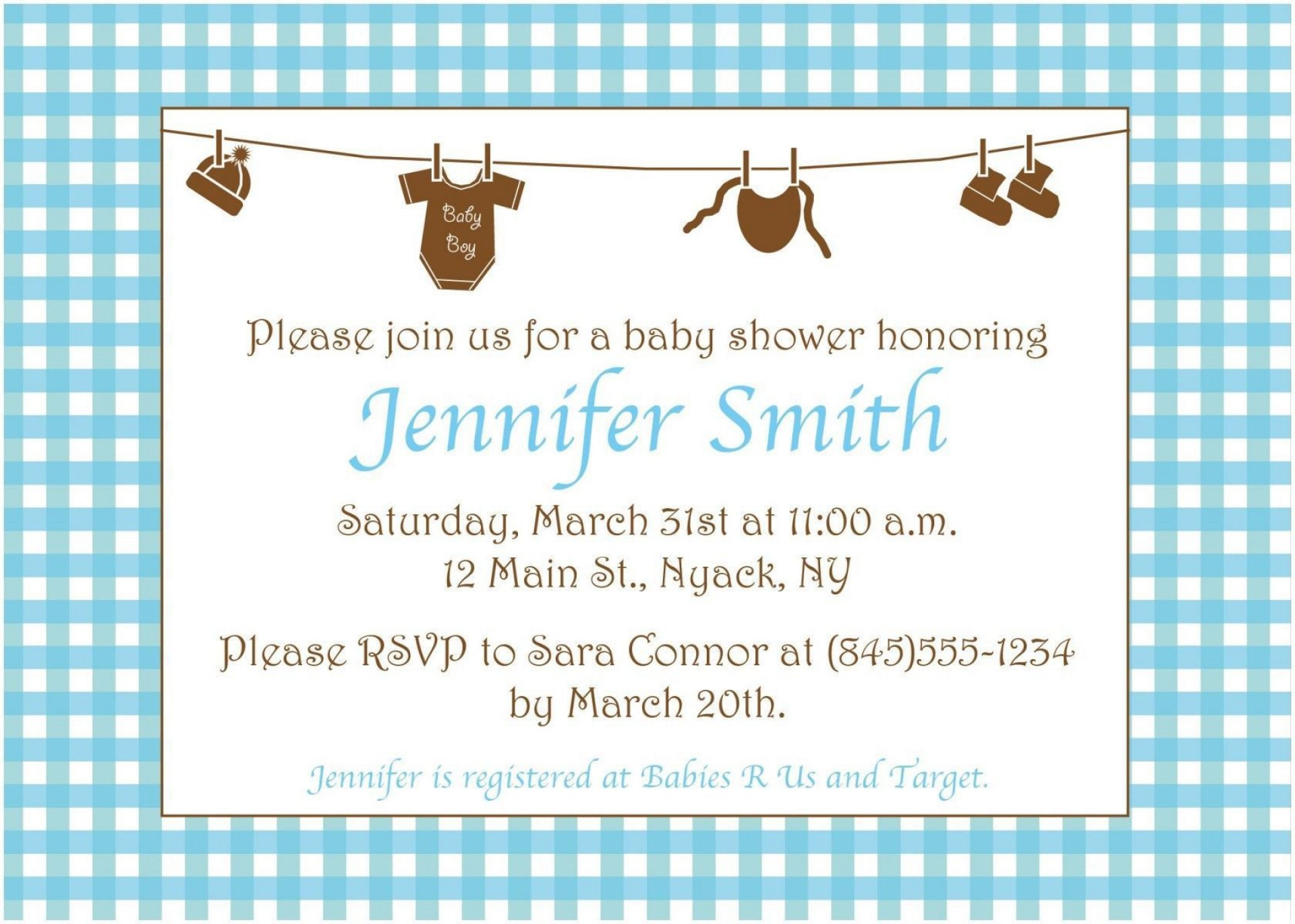 005 Surprising Baby Shower Invitation Wording Example Highest Quality  Examples Invite Coed Idea For Boy1920