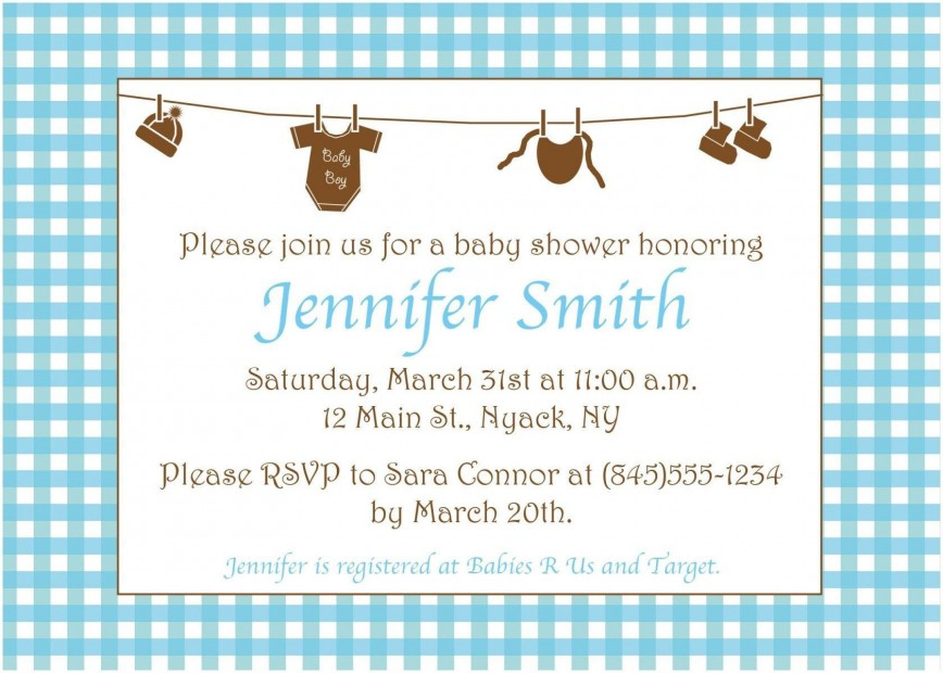 005 Surprising Baby Shower Invitation Wording Example Highest Quality  Examples Coed Invite Message