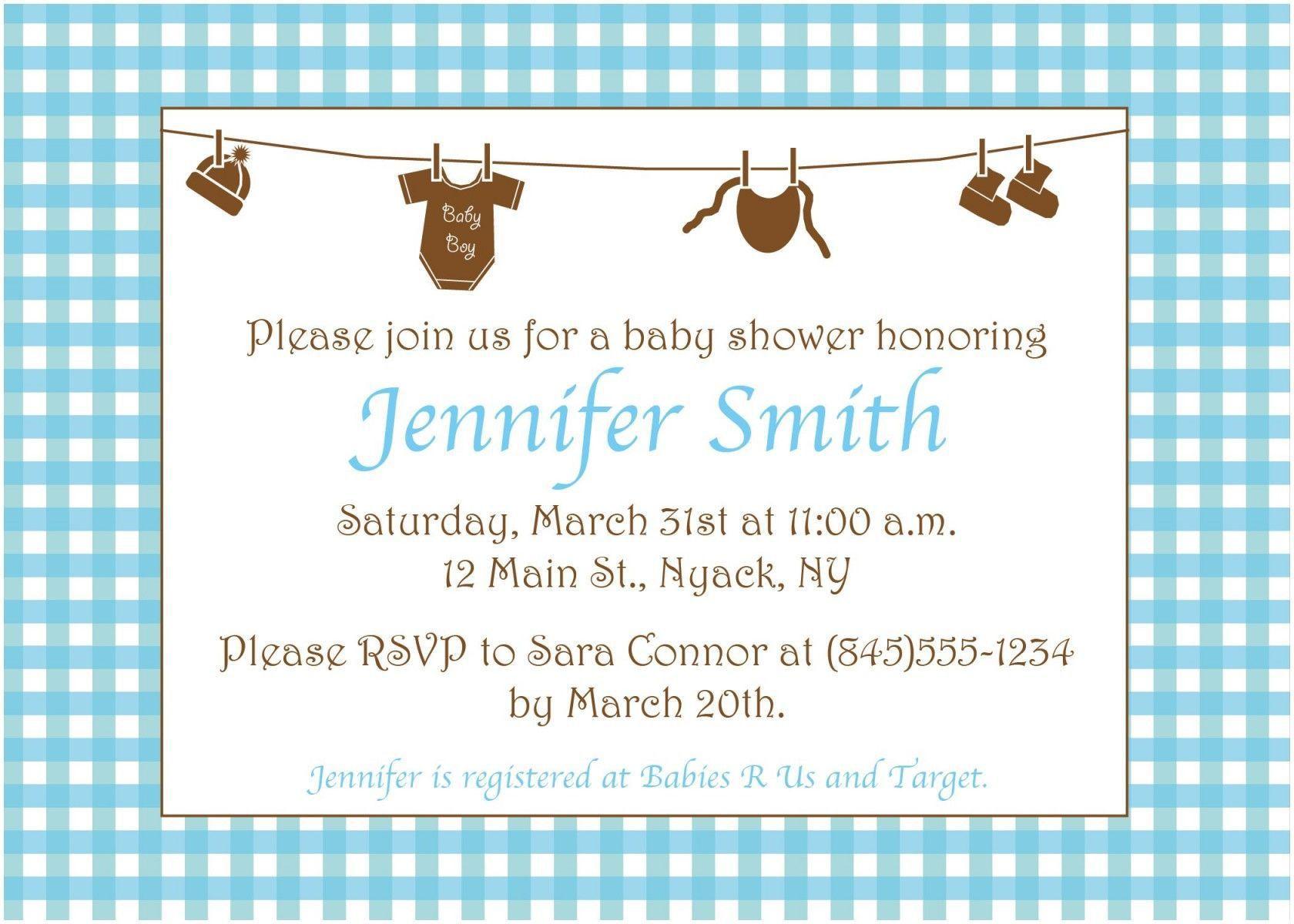 005 Surprising Baby Shower Invitation Wording Example Highest Quality  Examples Invite Coed Idea For BoyFull