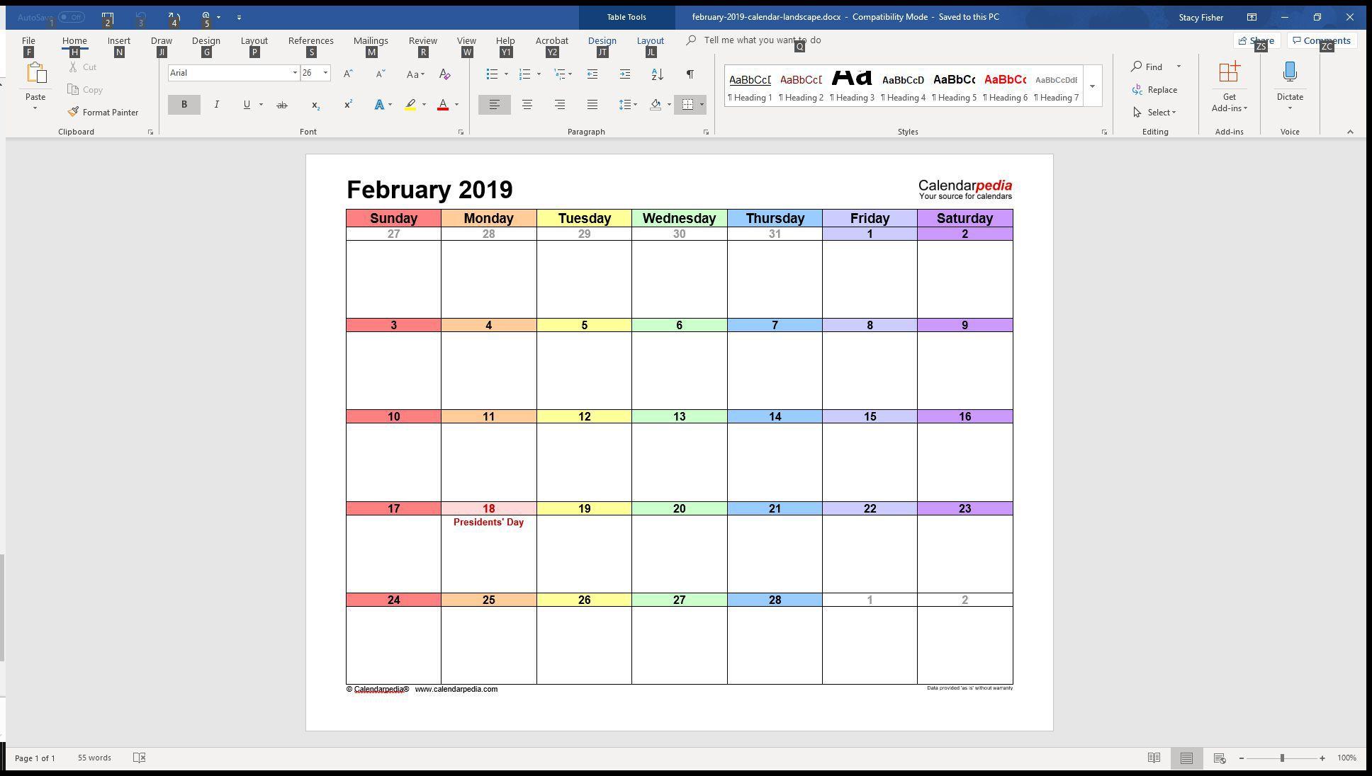 005 Surprising Calendar Template For Word 2007 Sample Full