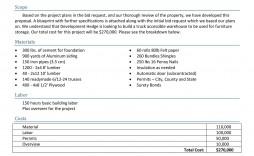 005 Surprising Contractor Bid Sheet Template Inspiration  General Electrical