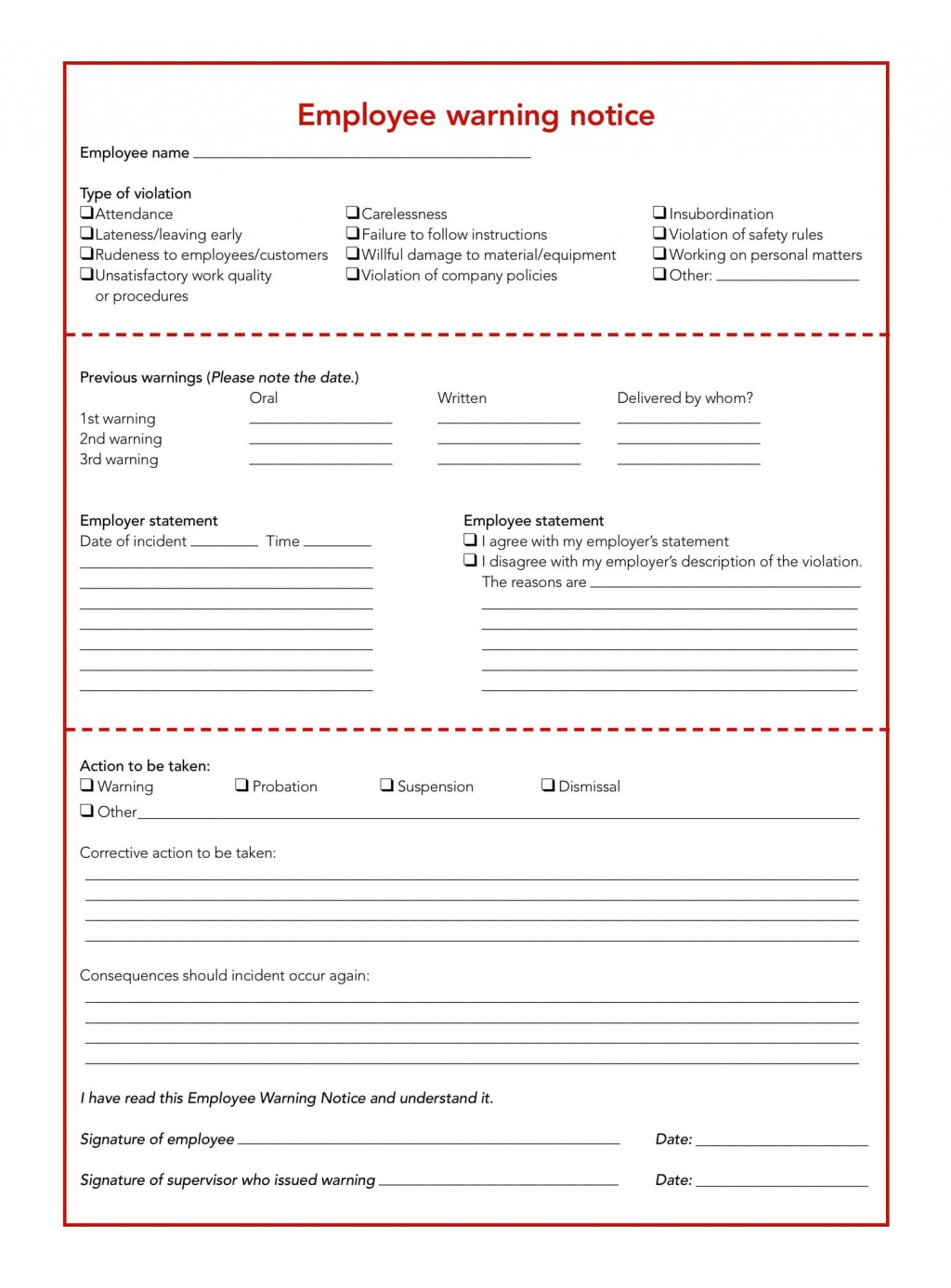 005 Surprising Disciplinary Write Up Template Highest Quality  Templates Employer FormLarge