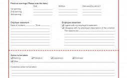 005 Surprising Disciplinary Write Up Template Highest Quality  Templates Employer Form