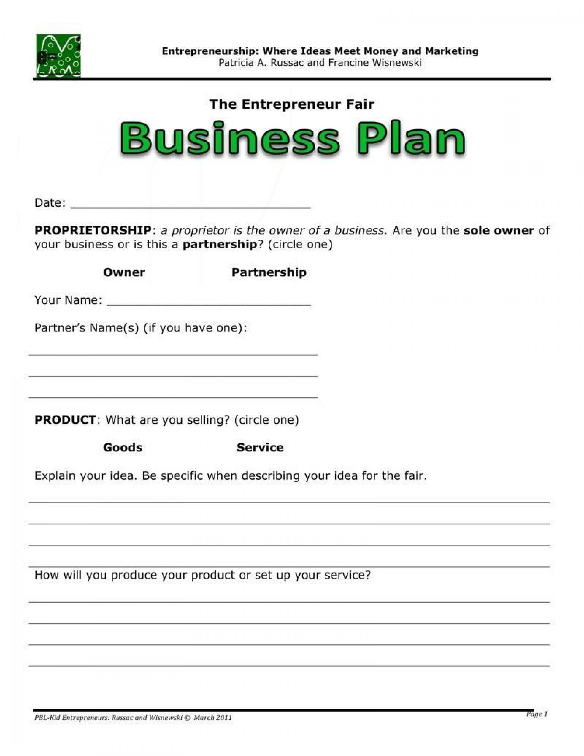 005 Surprising Easy Busines Plan Template Picture  For Free Basic Sample Pdf1920