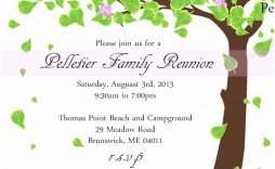 005 Surprising Family Reunion Invitation Template Free Highest Quality  For Word Online