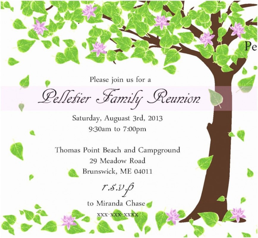 005 Surprising Family Reunion Invitation Template Free Highest Quality  Online Flyer Word