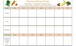 005 Surprising Free Meal Planner Template For Weight Los Picture  Loss