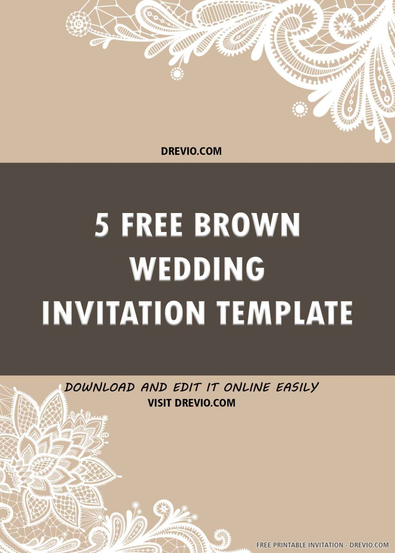 005 Surprising Free Wedding Invitation Template Printable Idea  For Microsoft Word MacLarge