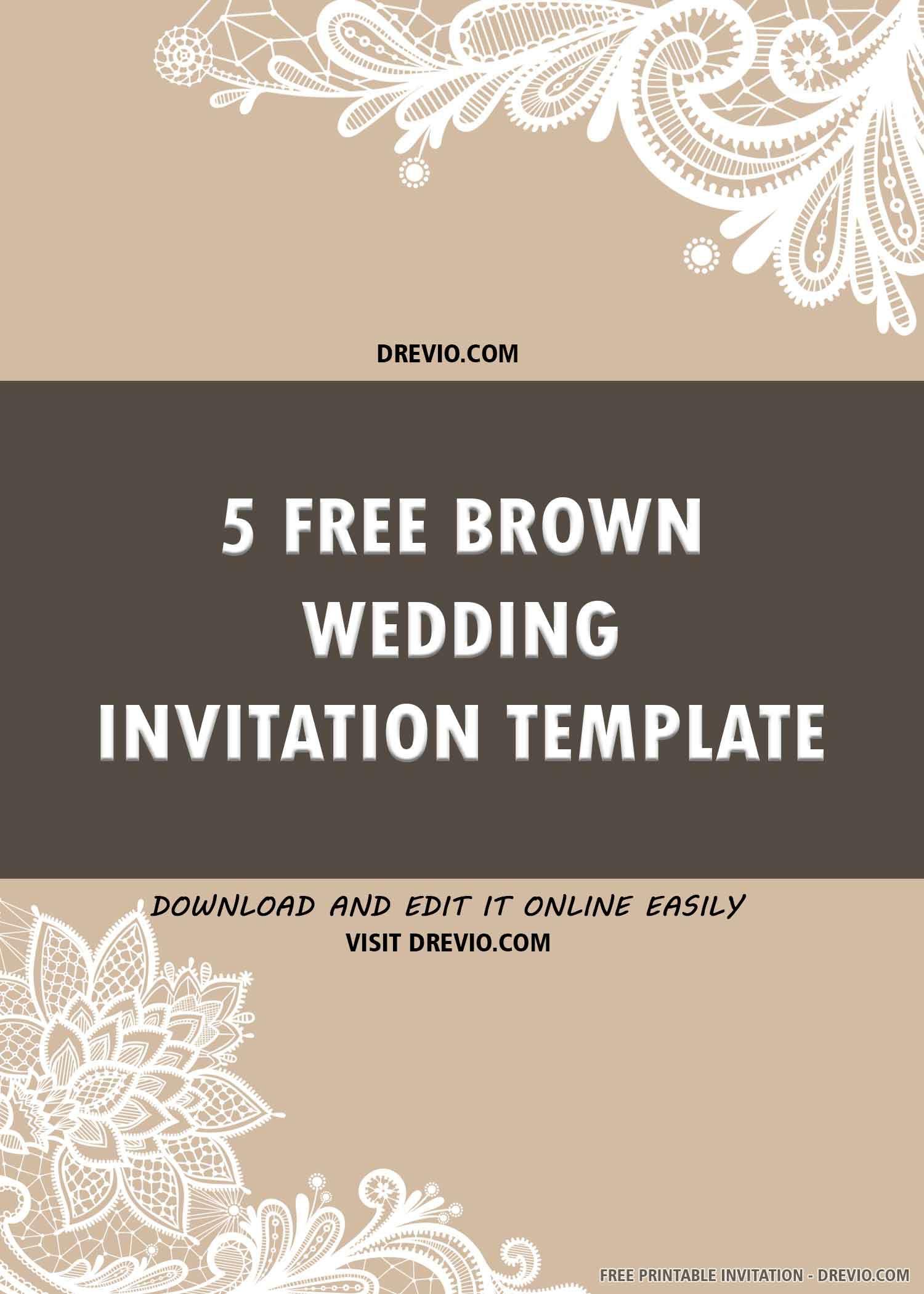 005 Surprising Free Wedding Invitation Template Printable Idea  For Microsoft Word MacFull