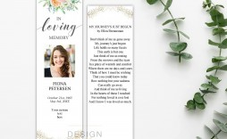 005 Surprising In Loving Memory Bookmark Template Free Download Concept