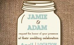005 Surprising Mason Jar Invitation Template High Definition  Free Wedding Shower Rustic