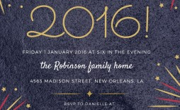 005 Surprising New Year Eve Invitation Template Concept  Party Free Word