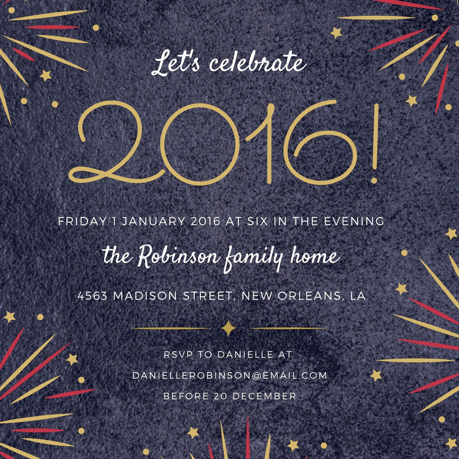 005 Surprising New Year Eve Invitation Template Concept  Party Free WordFull