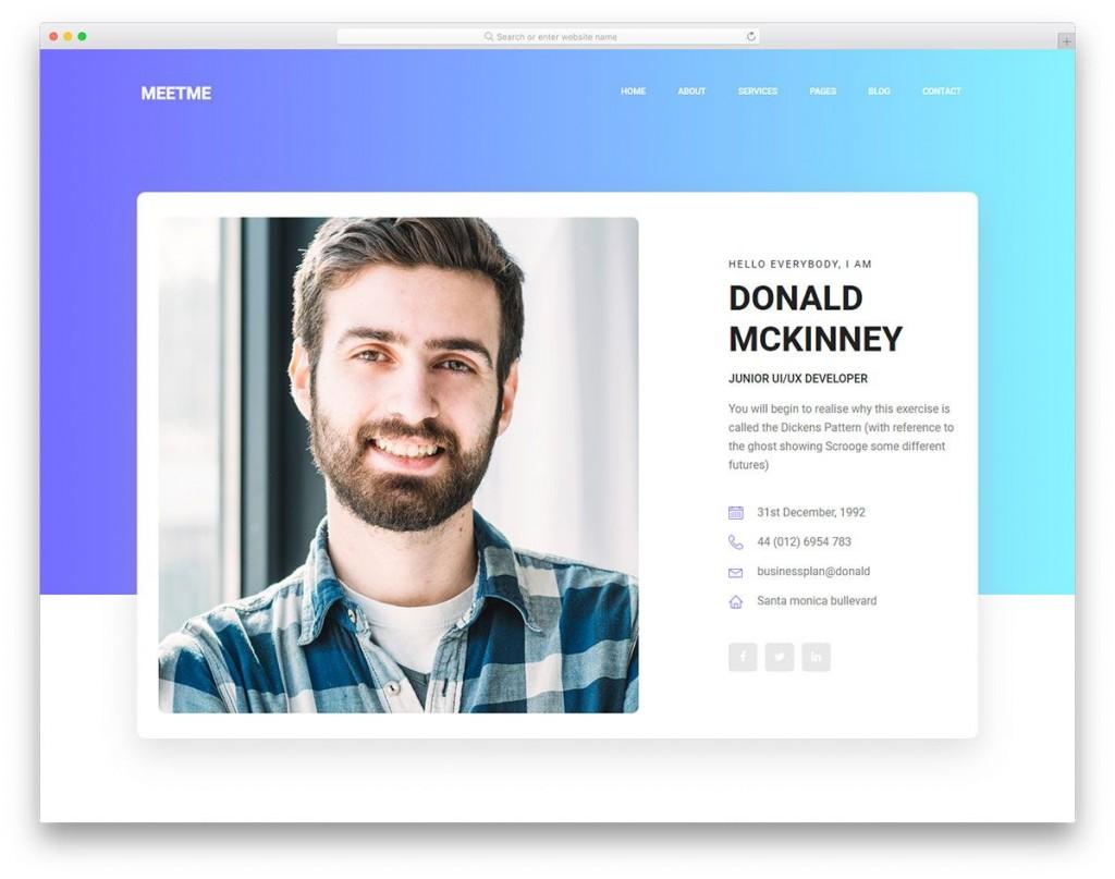 005 Surprising Personal Portfolio Template Free Download Design  Psd PowerpointLarge