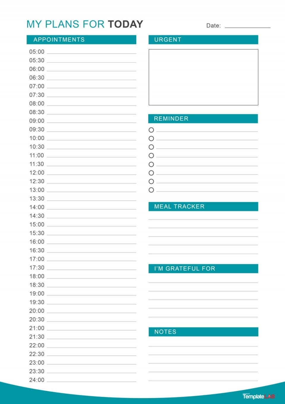 005 Surprising Printable Daily Schedule Template Inspiration 960