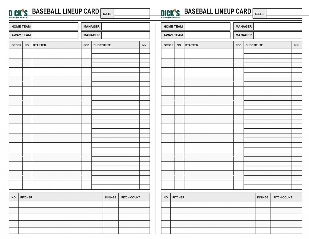 005 Surprising Softball Lineup Template Excel Concept  Batting Card RosterLarge