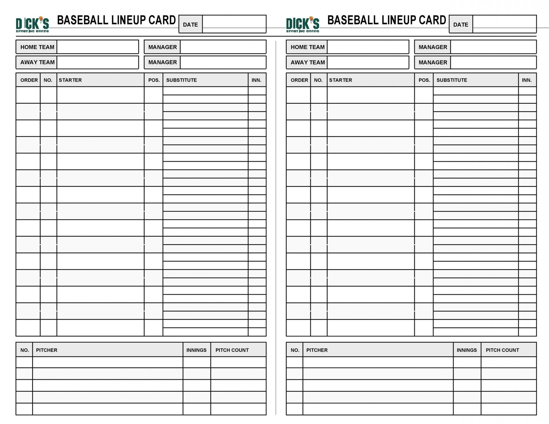 005 Surprising Softball Lineup Template Excel Concept  Batting Card Roster1920