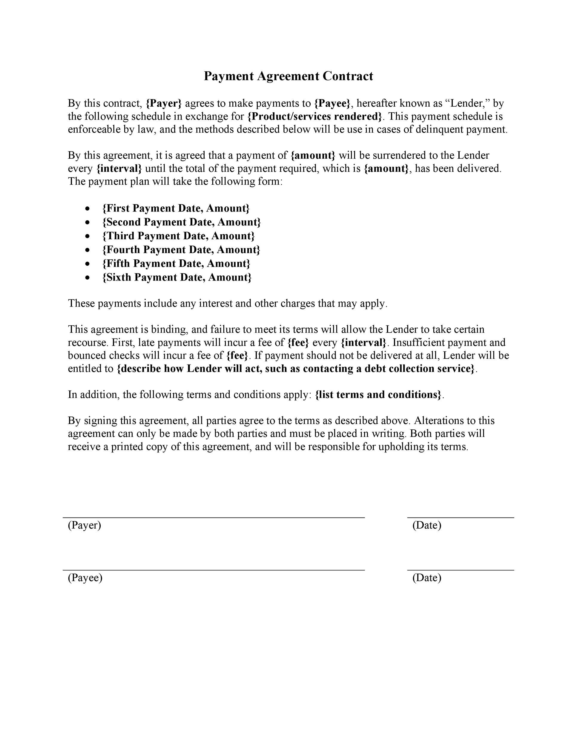 005 Surprising Term Of Agreement Template High Def  Service Contract Busines UkFull