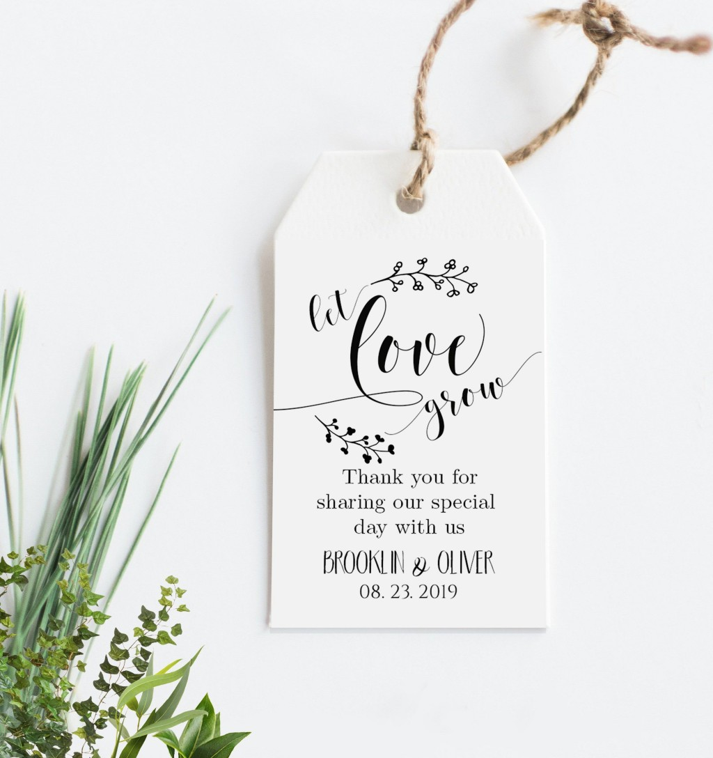 005 Surprising Wedding Favor Tag Template Example  Templates Editable Free Party PrintableLarge