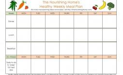 005 Surprising Weekly Eating Plan Template Sample  Food Planner Excel Meal Download