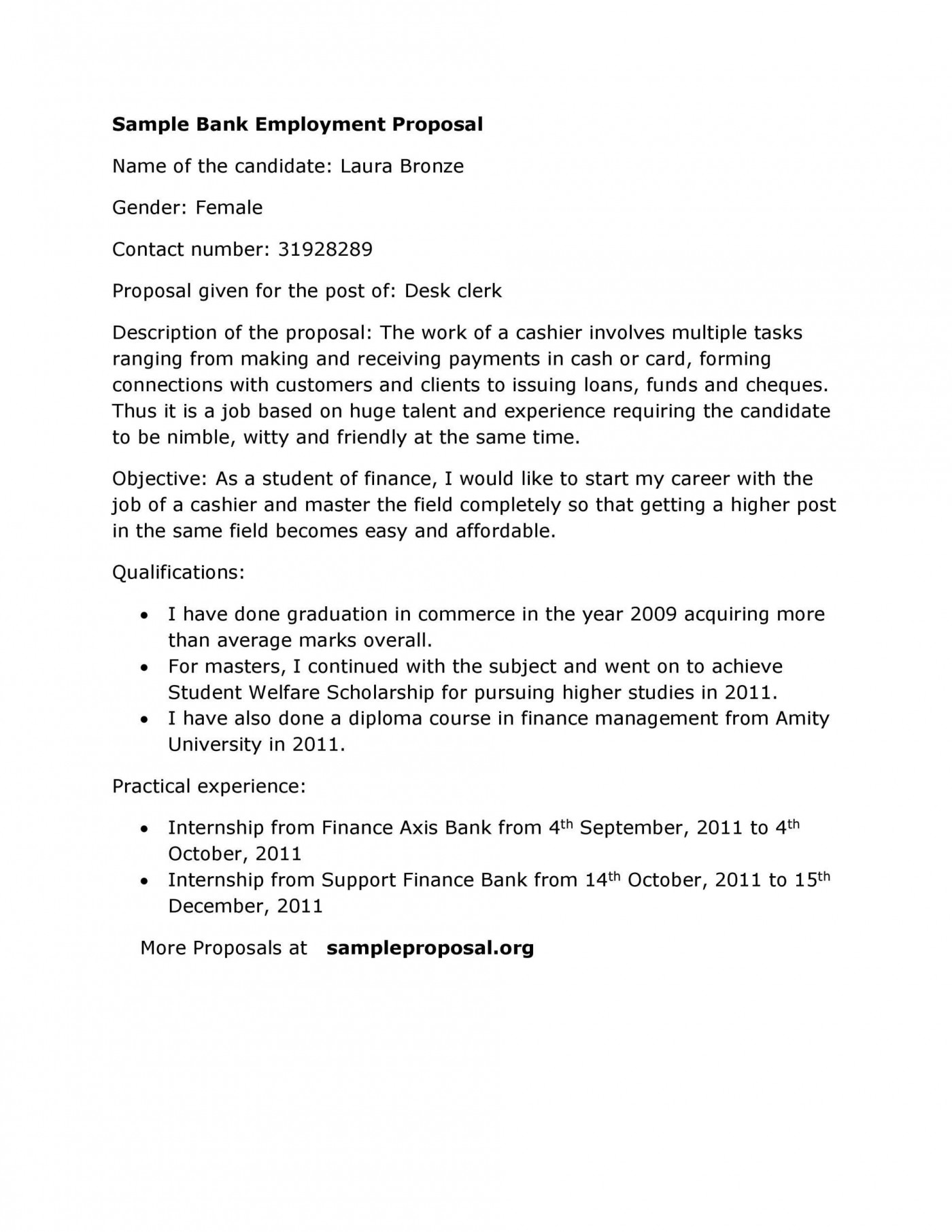 005 Surprising Writing A Job Proposal Template Sample Concept 1400