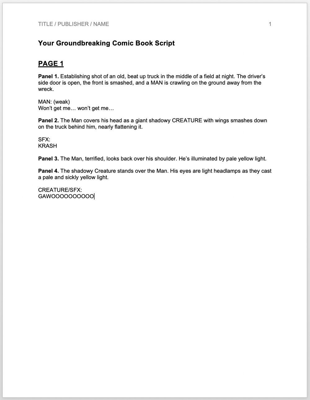 005 Top Comic Book Script Writing Format High Definition  ExampleFull