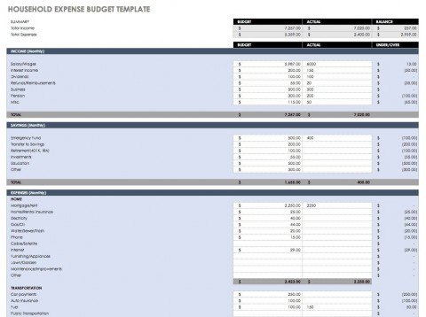 005 Top Excel Monthly Budget Template Photo  South Africa480