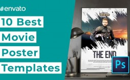 005 Top Free Photoshop Movie Poster Template Example  Templates