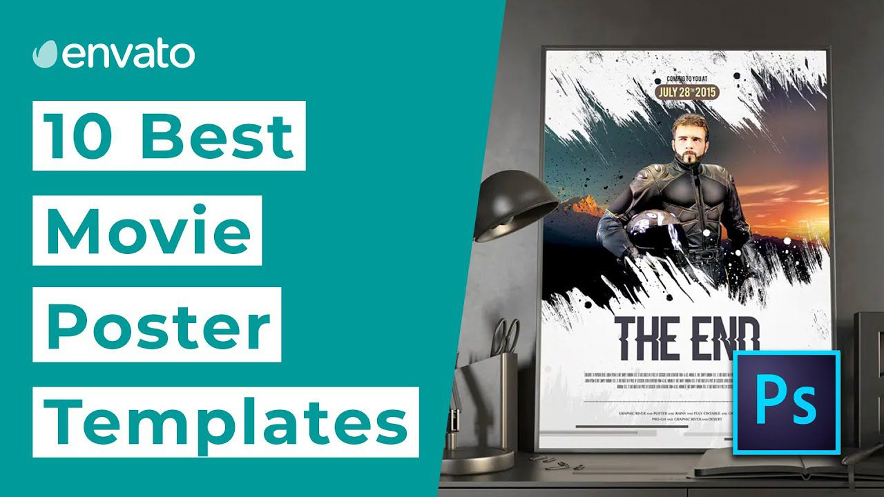 005 Top Free Photoshop Movie Poster Template Example  TemplatesFull
